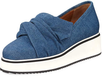 Veronica Beard Effie Denim Platform Sneaker