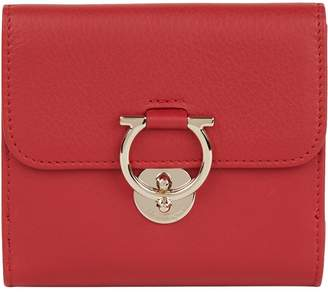 Salvatore Ferragamo Leather Gancini French Clip Wallet