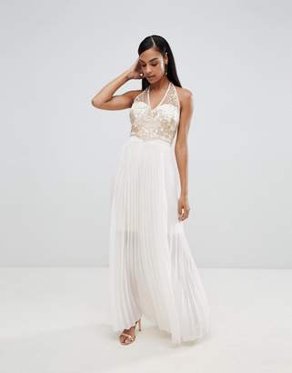 8ac3c08dc4 Lipsy pleated maxi dress with embellished detail