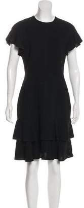 J. Mendel Short Sleeve A-Line Midi Dress w/ Tags