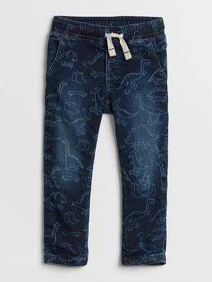 Gap Pull-On Denim Joggers in Dino Print