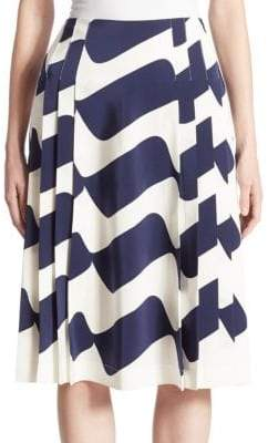 Victoria Beckham Pleated Midi Skirt