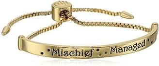 "Harry Potter Gold Plated ""Mischief Managed"" Lariat Bracelet"