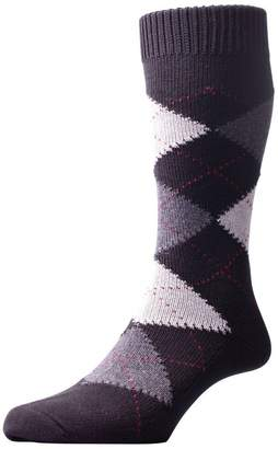 Pantherella Mens Turnmill Argyle Egyptian Cotton Socks - Medium