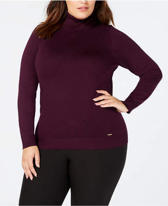 Calvin Klein Plus Size Turtleneck Sweater