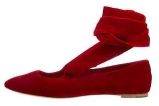 a5ce6f5bebb9 Red Velvet Flats - ShopStyle