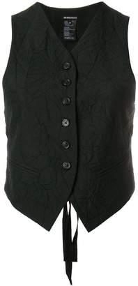 Ann Demeulemeester crinkle detail waistcoat