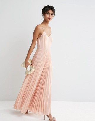 ASOS Woven Cami Maxi Dress With Pleated Skirt $68 thestylecure.com