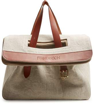 J.W.Anderson Tool leather-trimmed canvas tote