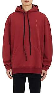 Taverniti So Ben Unravel Project BEN UNRAVEL PROJECT MEN'S EMBROIDERED COTTON OVERSIZED HOODIE-RED SIZE S