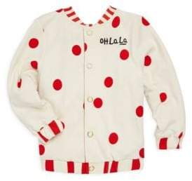 Mini Rodini Little Girl's& Girl's Salvador Reversible Sweat Jacket