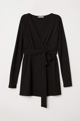 H&M MAMA Tie-belt Top - Black