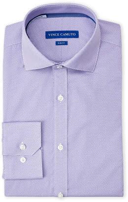 Vince Camuto Purple Half Circle Print Slim Fit Dress Shirt