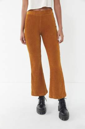 Urban Outfitters Cassidy Ribbed Velvet Kick Flare Pant