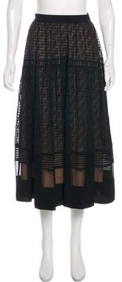 Rebecca Taylor A-Line Midi Skirt