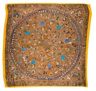 Hermes Avec L'Aimable Autorisation du Lalbhai Dalpatbhai Institute of Indology Silk Shawl