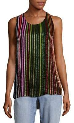 Balmain Silk Sleeveless Top
