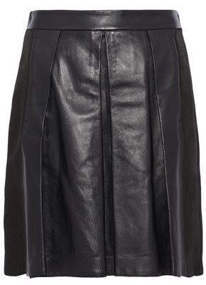 Proenza Schouler Pleated Leather Mini Skirt