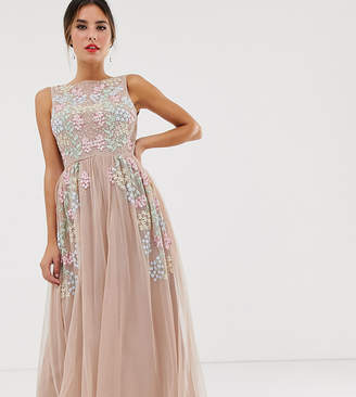 b6305f12 Maya all over embroidered midaxi dress in pink multi