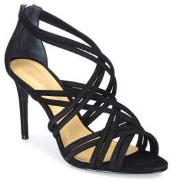 Schutz Glassy Strappy Suede Sandals