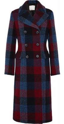 3.1 Phillip Lim Double-Breasted Checked Wool-Blend Coat
