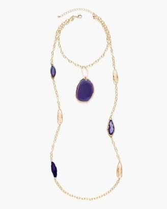 Purple Drama Double-Strand Necklace