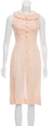 Chanel Linen Sleeveless Midi Dress