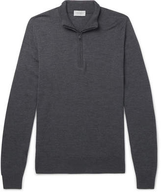 John Smedley Slim-Fit Merino Wool Half-Zip Sweater