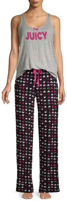 Juicy Couture Women's Two-Piece Printed Pajama Set
