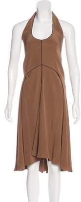 Saint Laurent Silk Halter Dress w/ Tags