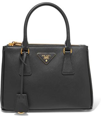 Prada - Galleria Mini Textured-leather Tote - Black $1,920 thestylecure.com
