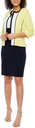 Studio 1 3/4 Sleeve Jacket Dress