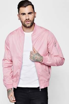 boohoo Pink MA1 Zip Bomber Jacket