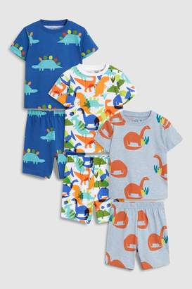 Next Boys Multi Dinosaur Pyjamas Three Pack (9mths-8yrs)