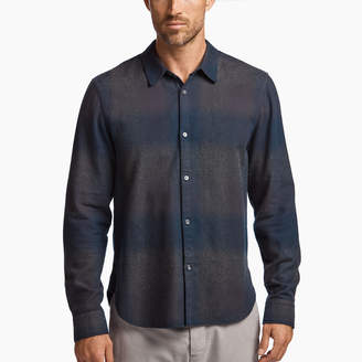 James Perse GHOST PLAID FLANNEL SHIRT