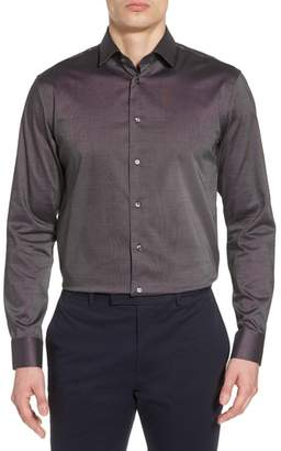 Calibrate Trim Fit Non-Iron Stretch Solid Dress Shirt
