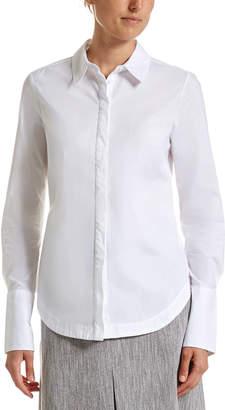 SABA Cleo Long Line White Shirt