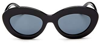 Le Specs Women's Fluxus Round Sunglasses, 49mm