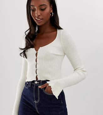 Asos Tall DESIGN Tall button front cardigan with scoop neck