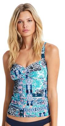 Seafolly Silk Market Twist Halter Tankini Separate