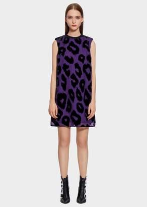 Versace Animalier Devoré Mini Shift Dress