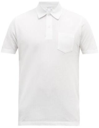 Sunspel Riviera Cotton Pique Polo Shirt - Mens - White