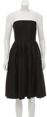 Calvin Klein Strapless Pleated Dress