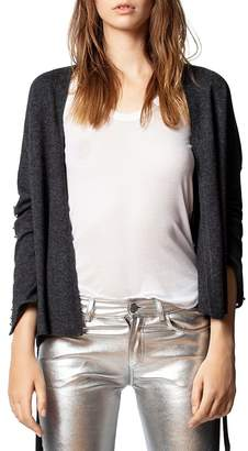 Zadig & Voltaire Lemmy Merino Wool & Cashmere Studded Cardigan