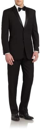 Ike Behar Men's Slim-Fit Satin Notched-Lapel Wool Tuxedo