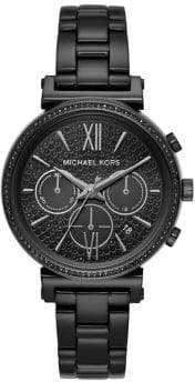 Michael Kors Sofie Chronograph Black Stainless Steel Watch