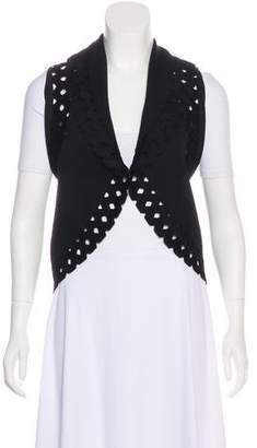 Alaia Wool Laser Cut Vest