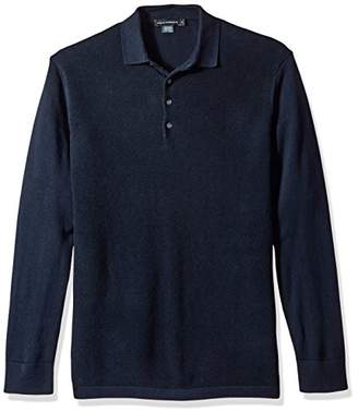 French Connection Men's Textured Knit Polo