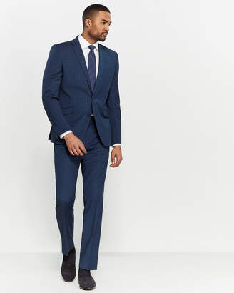 Kenneth Cole Reaction Two-Piece Blue & Black Shadow Check Suit