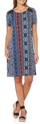 Rafaella Petite Mixed-Print T-Shirt Dress